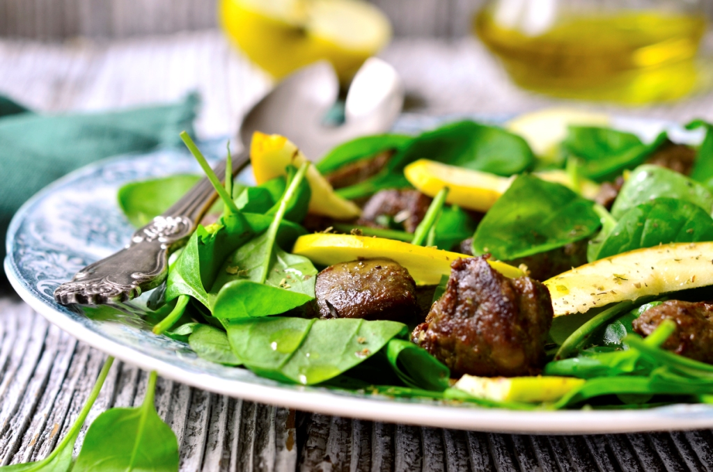 Liver and Spinach